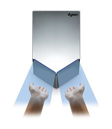 Dyson Airblade V Hand Dryer - Dries each hand separately