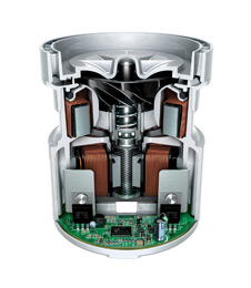 digital motor V4 inside of Dyson airblade hand dryer